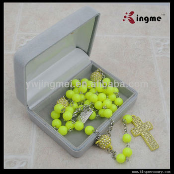 Grey Color Velvet Rosary Box