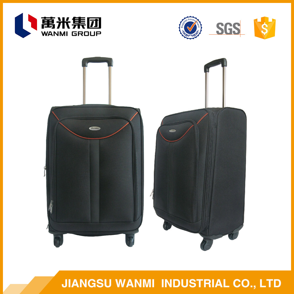 Polyester fabric wheeled travel soft luggage