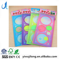 New Spiral Art Tool Spirograph Graphics Symbols Drawing Template Ruler Student Children Assorted Color Stencil plastic Rule