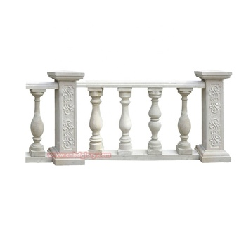 Custom Design Stone Carved Building Material Marble Balcony Stair Railing