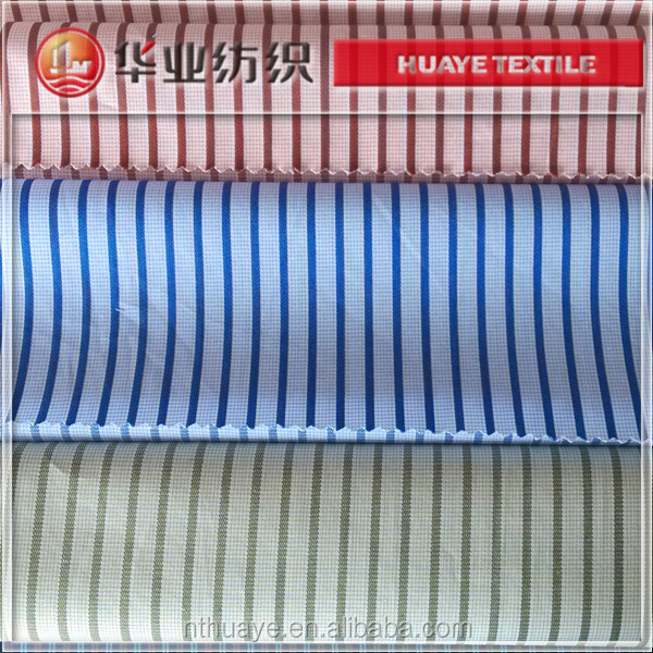 40s cotton white and blue stripe poplin fabric for man shirting