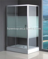Hinge glass Shower Room with support bar standard Frameless Shower Enclosure