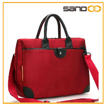 Red new briefcase with one big compartment pocket for business men