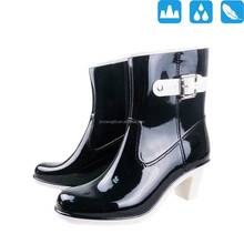 ladies fashion high heel rain shoes