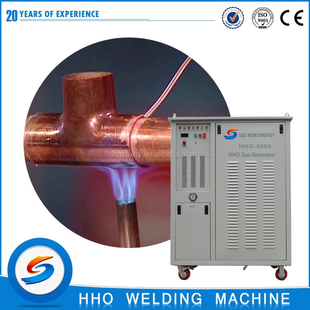 Alternative propane oxy-hydrogen flame machine platinum welding machine