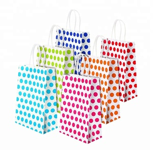 Little Treat Cookie Colored Polka Dot Paper Bags With Handles