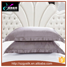 high quality comfortable oxford type 100% pure long mulberry 19MM silk charmeuse pillowcase