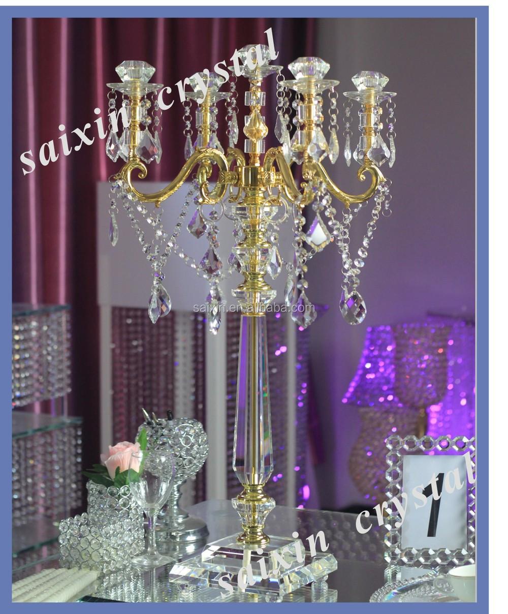 New design wedding centerpieces gold candelabra