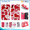 Leather case for sony t3, flip wallet case cover for sony t3, accessory for Sony xperia T3