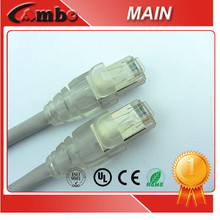 OEM Packing Modem Cables Patch Cords RJ45 Plug Shielded Etherent Cat5e Jumper Cables