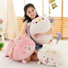 Plush Cute Animal Shaped Soft Plush Car Sofa Cushion Pillow With Tablet Blanket