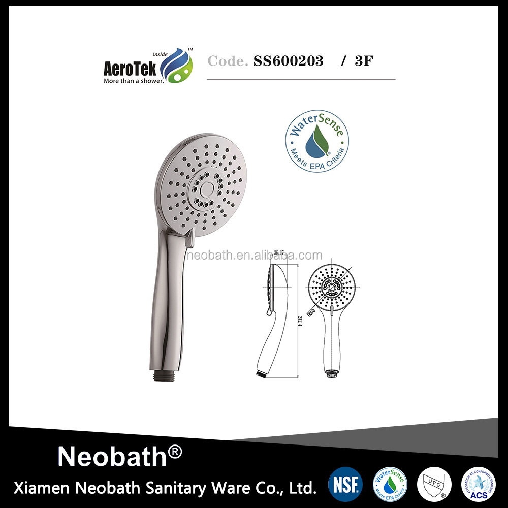 Customized Logo Printed Bathroom accessory abs multi function spray hand shower