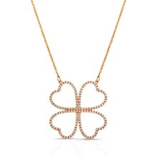Four leaf clover necklace 24k gold plated necklace silver 925