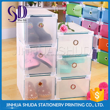 Transparent Pp Flipping-Type Waterproof Plastic Shoe Box For Sale
