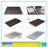 Non-stick bakery bread baking flat aluminium pan, teflon coated stainless steel burger oven tray, perforated baking tray