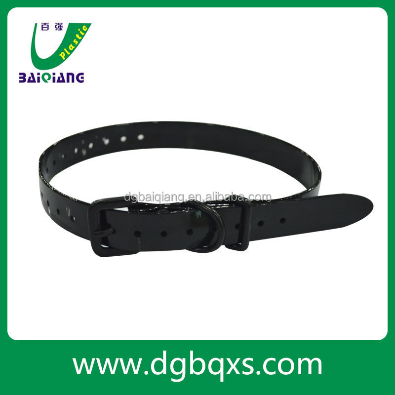high quality purple led velcro pet collar for dogs