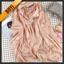 Plain Soft Scarf With 100% Silk For Wholesale
