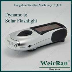 (120124) Multifunctional rechargeaable dynamo flashlight 3 led rubber