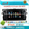 Factory Android 4.0 Central Multimedia Player for Toyota COROLLA with GPS/BT/DVD/ATV/FM/AM/RDS/3G/WIFI/USB fast delivery
