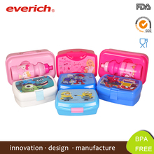 FDA Grade Customized PP plastic kids Lunch Box With Divider