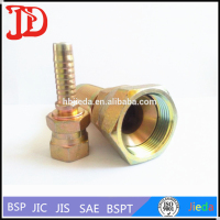 26711D Standard JIC 74 Deg Double Hexagon ,Internal Thread Hose Nipple ,Hydraulic Insert Tube Fittings