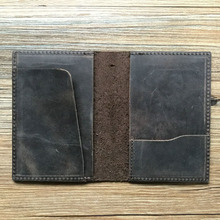 Factory Classic Genuine Leather Personalized Passport Holder