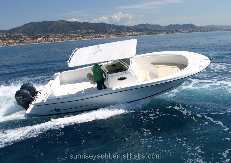 OCEANIA 30CC Opened Cabin Small Fiberglass Fishing Boat For Sale Mini Yacht Price