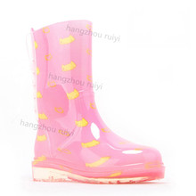 pvc transparent girls cowboy rain boots
