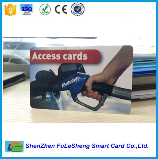 Blank PVC Card with pre-printed logo on front and back side