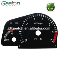 China High Performance Plastic Digital Printing Speedometer Instrument Cluster