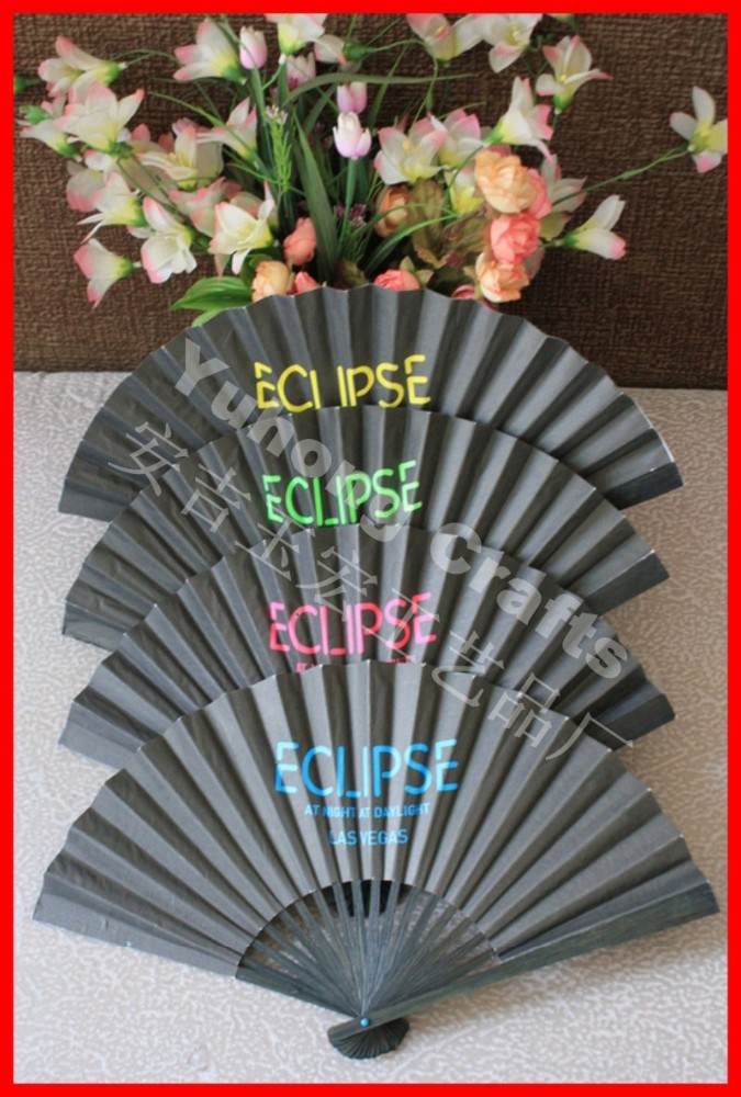 Paper Crafts Advertising Gift Paper Fan Wholesale