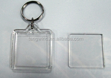clear acrylic plastic key ring
