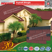 Asian Red Prefab Villa Roof Tiles China supplier, Asphlt Roof Shingles