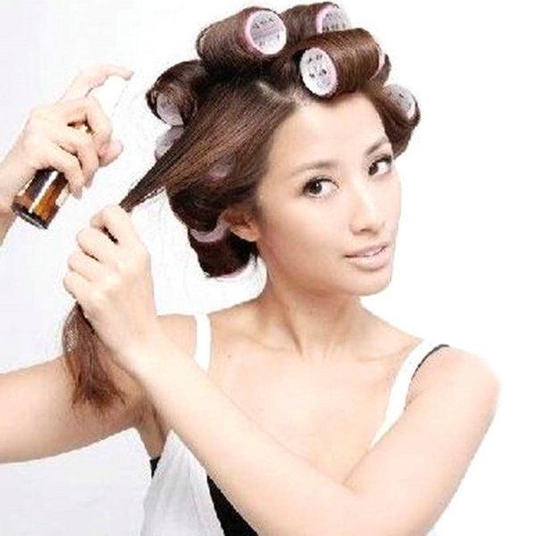 Как завить волосы средней длины на бигуди красиво