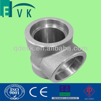 ANSI B16.11 A105 forged socket weld tee