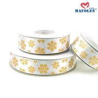 Wholesale patterned satin ribbon personalized decoration gold ribbon christmas fancy