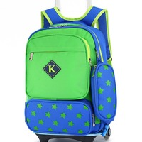 Bright Color Backpack Kids Wheeled Trolley