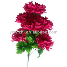 New design 7 heads 58cm pink bulk artificial flowers