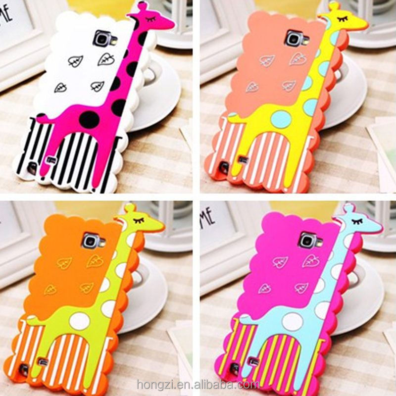 3D Cute cartoon Animals Korea Polka Dot giraffe soft Silicone Back Case For Samsung Galaxy Note2 N7100 for 4s/5s/6/6plus