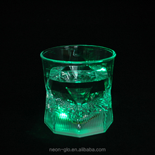 10oz LED Polyhedron Whisky Glass light bar glass