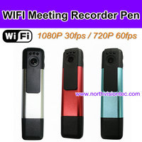 2016 Smart Mini DVR New arrival H.264 Full HD 1080p infrared wifi camera pen Meeting Recording Pen