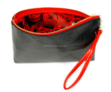 Faux Leather Cosmetic/ Essentials Wristlet Bag (China)