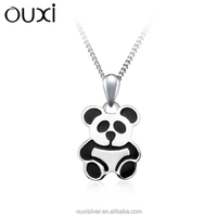 OUXI lovely panda shaped 925 silver pendant as gift Y30109