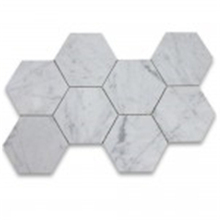 Carrara White Marble Mosaic Tile Price Hexagon Mosaic Tile Decoration Mosaic Stone