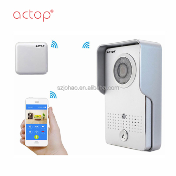 Home security China manufacturer ACTOP 2017 hot product color night vision weatherproof door intercom wifi door bell