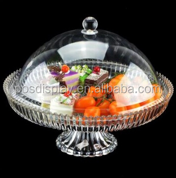 High quality acrylic candy tray with cover and Plastic handel