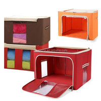 Household items foldable fabric storage box
