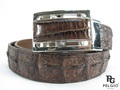 Genuine Crocodile Hornback Skin Back Belt 46 inch Brown