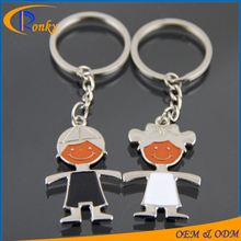 Valentine day gifts 2017 custom metal personalized cute couple keychain