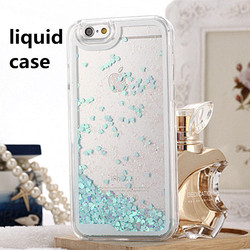 China Supplier PC Liquid Glitter Dynamic Love Heart Case Cover For iphone 5